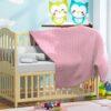 www.koceo.pl - Kocyk Bawełniany Dziecięcy Różowy