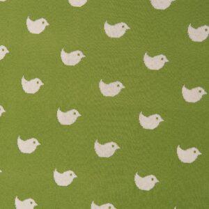 www.koceo.pl - Kocyk Zielony w Białe Ptaszki